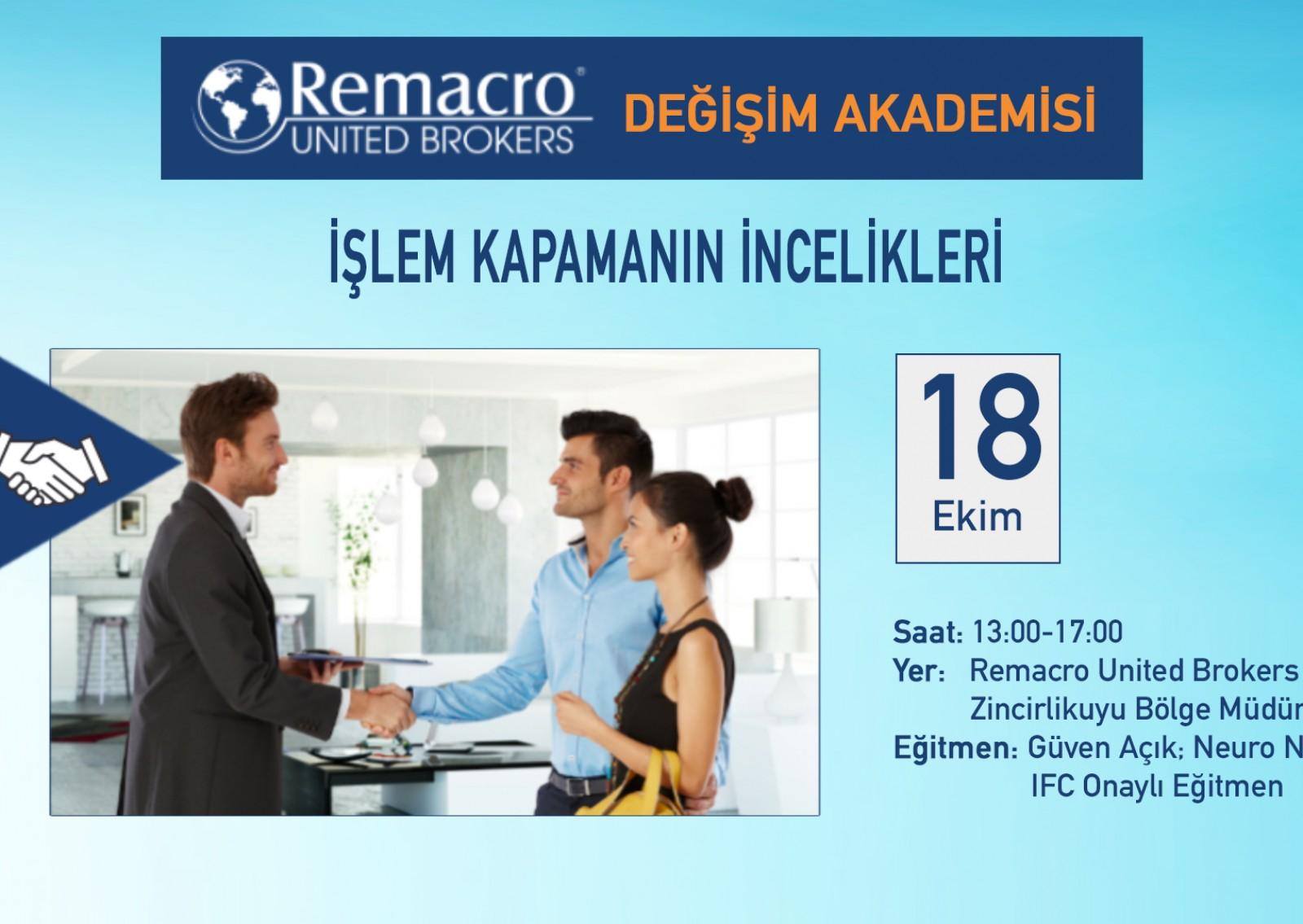 REMACRO DEĞİŞİM AKADEMİSİ 3.Eğitim İçin Hazırlanıyor!